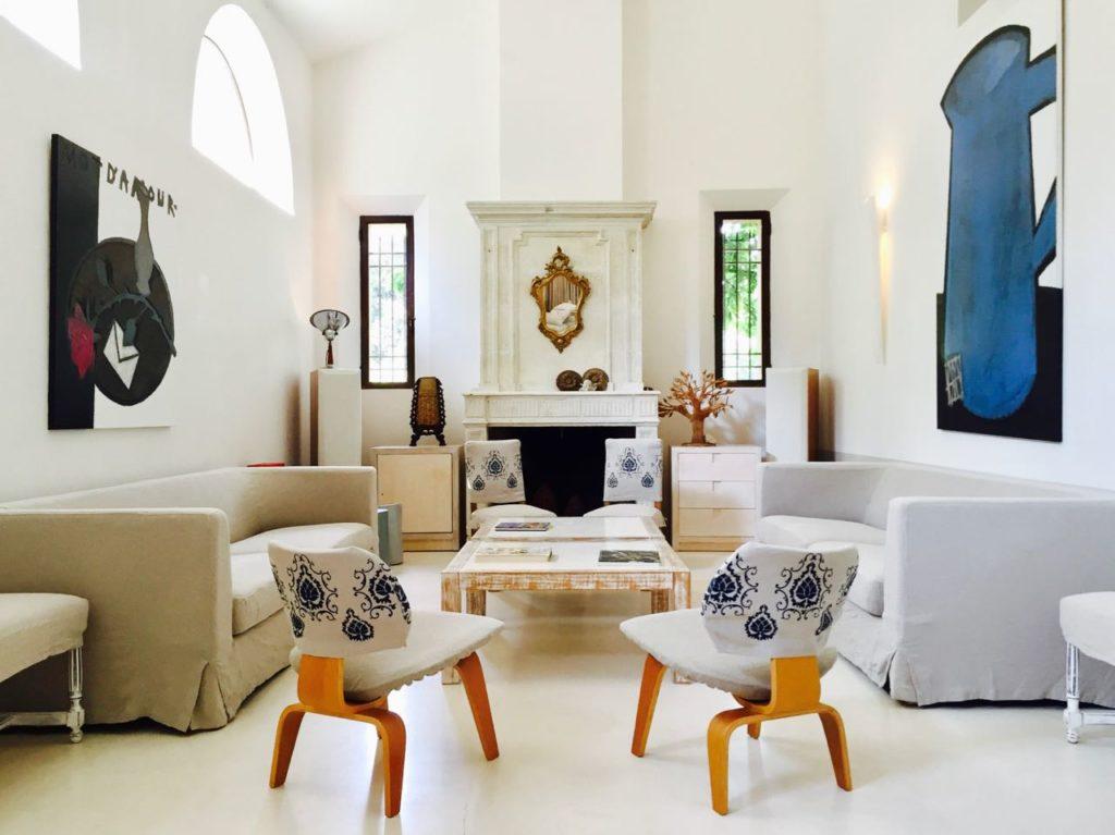 Reception, living room, la Baye des Anges