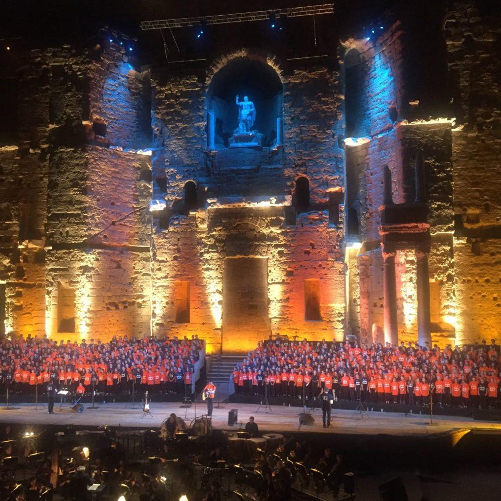 Pop the opera, Roman theatre, Orange