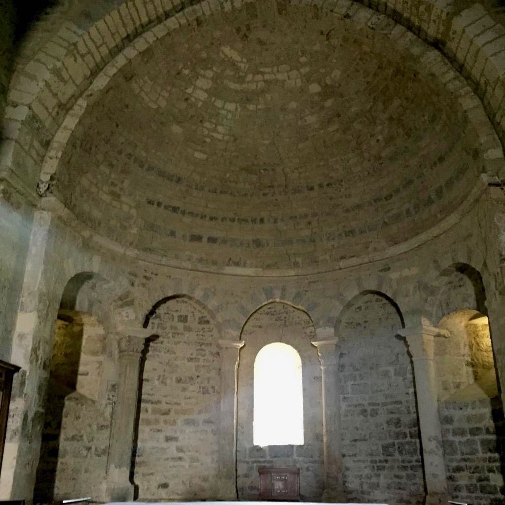 Romanesque church in St Jalle, drome Provençale