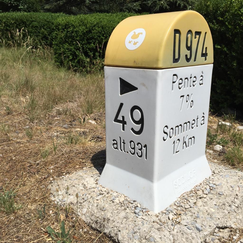 Mont Ventoux climb milestone