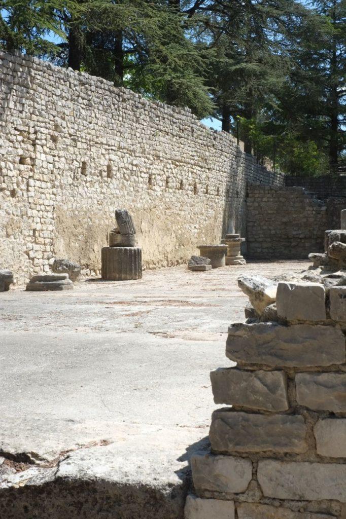 Roman archeological grounds in Vaison-la-Romaine