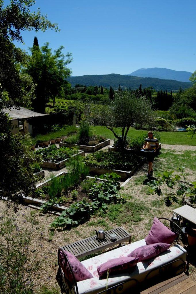 kitchen garden at Baye des Anges