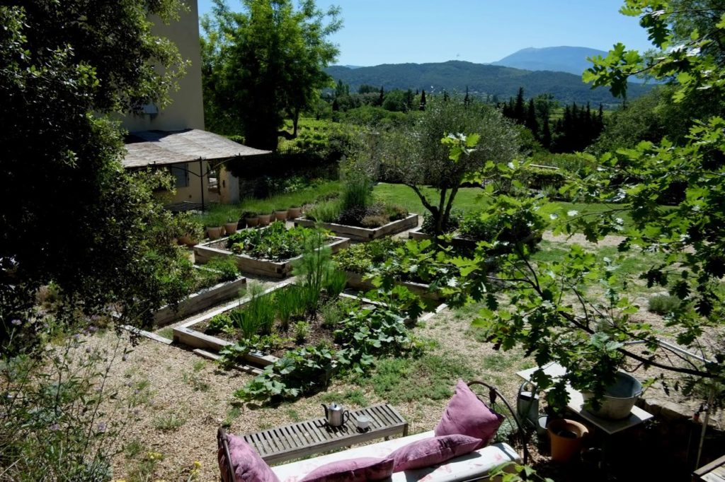 kitchen garden at Baye des Anges