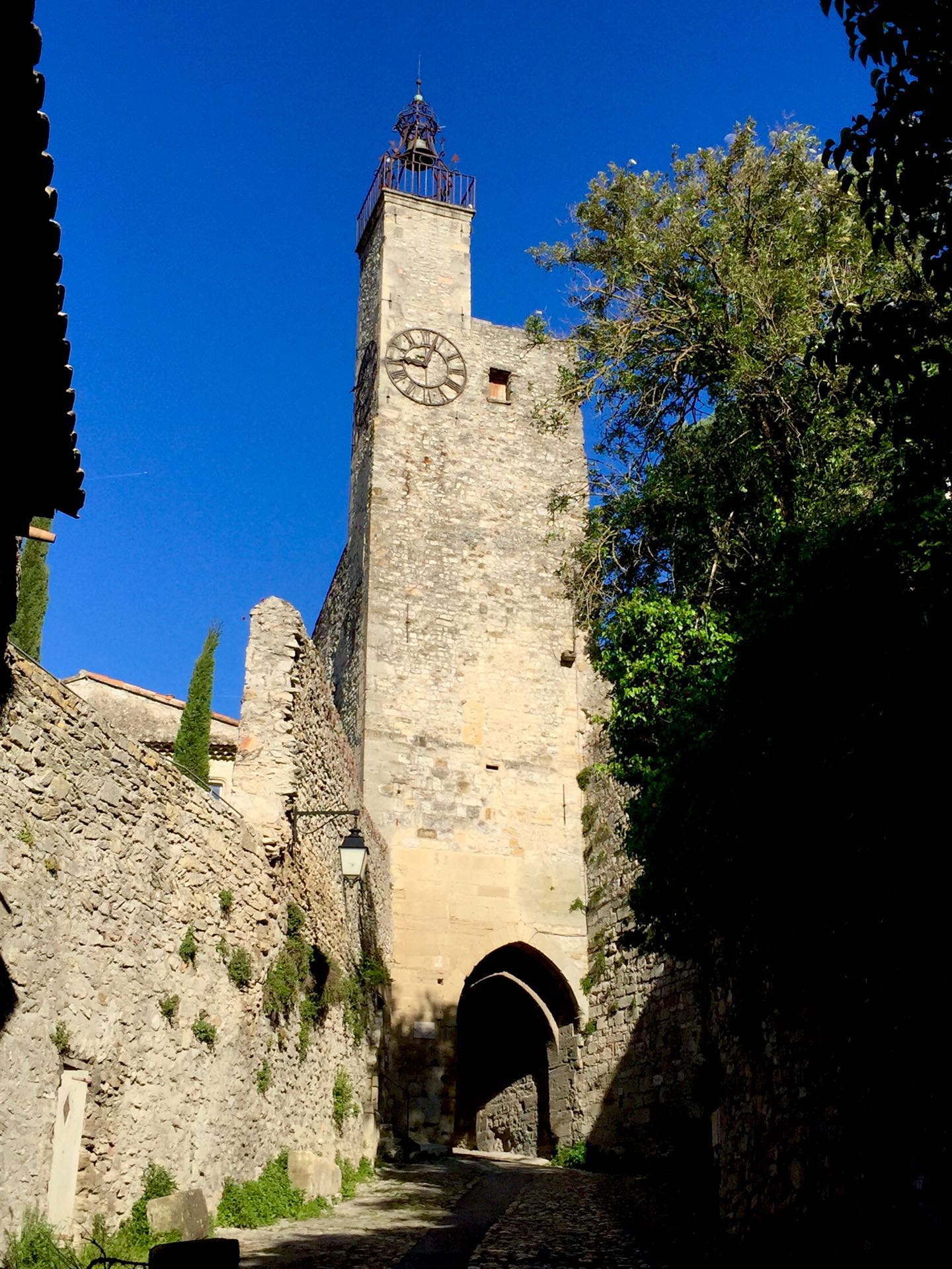 Along the streets of the fortified town