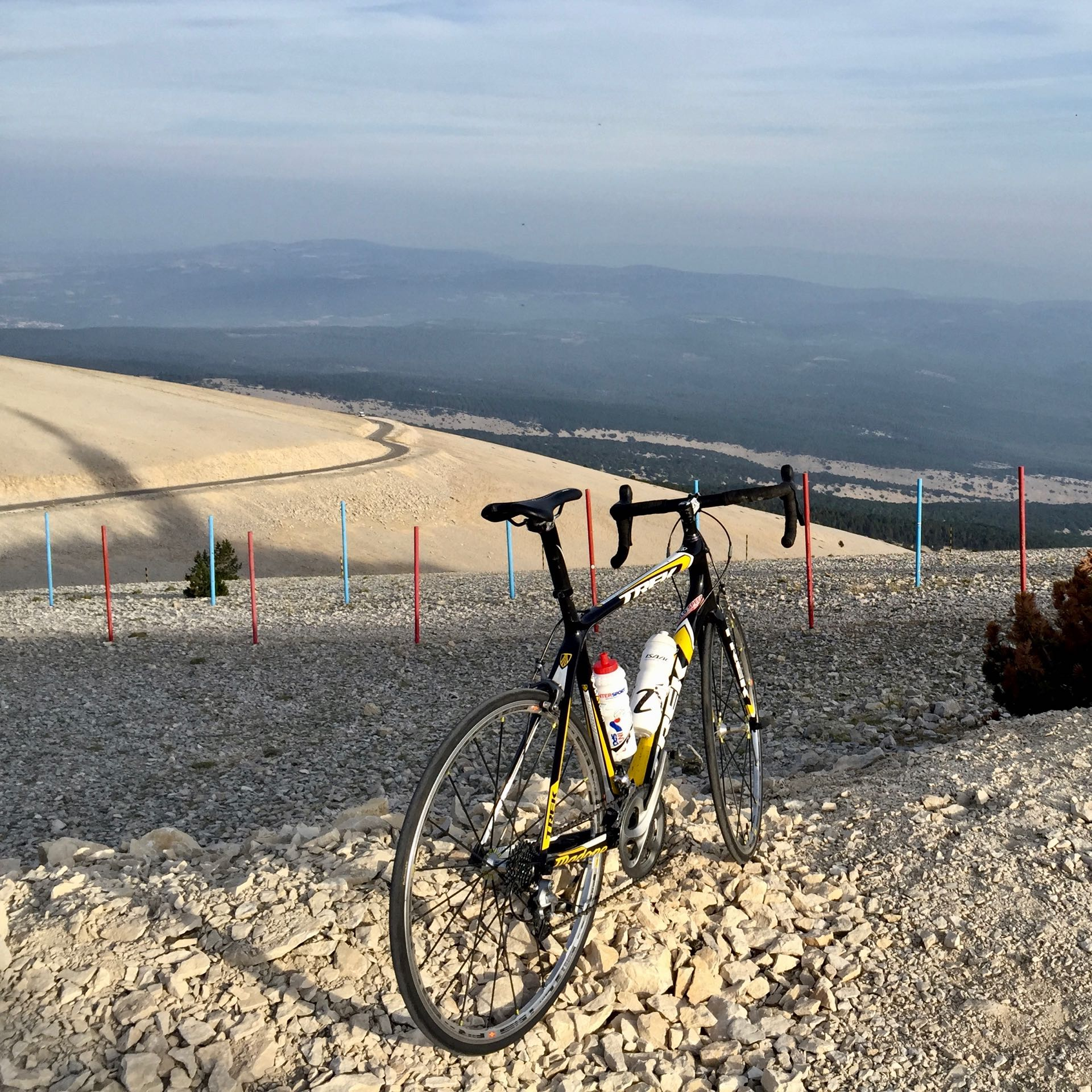 Bycycle at the summit of the Mont Ventoux