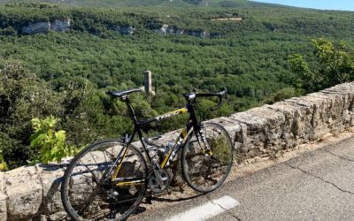 Cycling south of Mont Ventoux